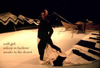 """wolfgirl asleep in harlem/awake in the desert"" performance"